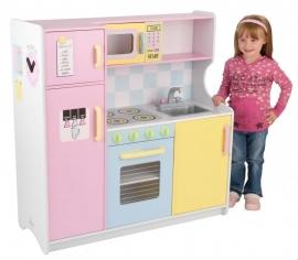 Kidkraft Keukentje Retro Roze-Geel-Blauw