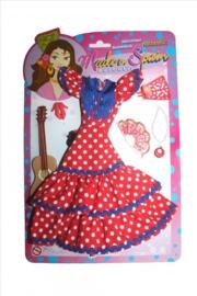 Spaanse Jurk Barbie + accessoires SET
