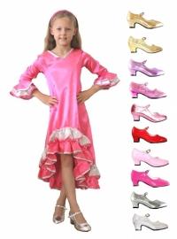 Prinsessen schoenen + Shiny jurk Pakket