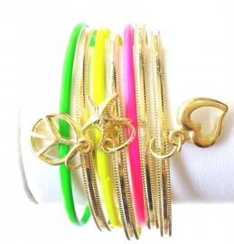 Fluor Armbanden Set