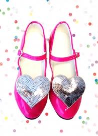 Prinsessen Schoenen Schoenclip - Shoe clip Hart Zilver