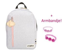 Zebra Rugzak Sparkle Purple (m) + gratis armbandje