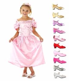 Prinsessenjurk roze zilver Glitter Pakket