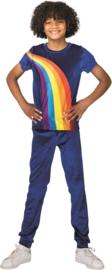 K3 verkleedpak Regenboog blauw + gratis kadootje!