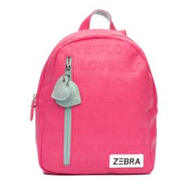 Zebra Rugzak Love Pink + gratis kadootje