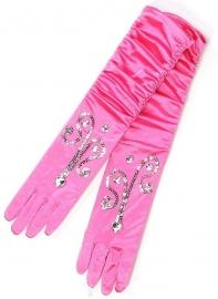 Handschoenen Roze Glitter luxe