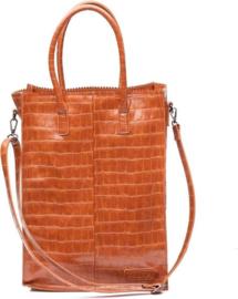 Zebra Tas Schoudertas Natural Bag Rosa XL - camel croco
