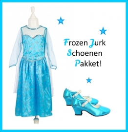 Frozen Jurk Elsa Pakket + gratis haarband