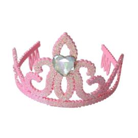 Kroontje Pink Glitter