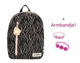 Zebra Rugzak Zebra Grey (s) + gratis armbandje