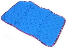 Verschoningsmatje ZEBRA blauw/paars