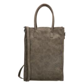 Zebra Tas Schoudertas Natural Bag Rosa XL - olijfgroen suede
