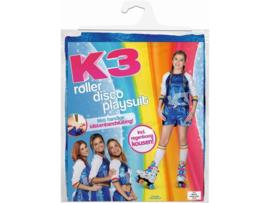 K3 pakje roller disco playsuit regenboog