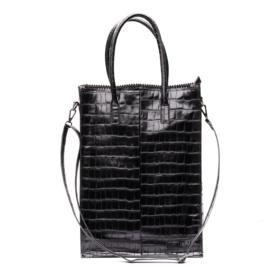 Zebra Tas Schoudertas Natural Bag Rosa XL - black croco
