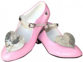 Prinsessenschoenen Lichtroze Glitter Hart + gratis kadootje