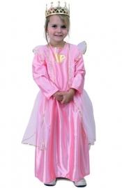 Prinsessenjurk Roze Hart Goud