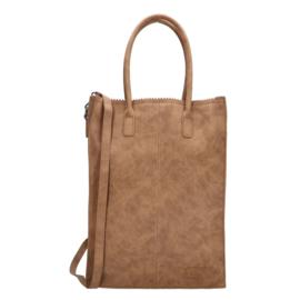 Zebra Tas Schoudertas Natural Bag Rosa XL - camel suede
