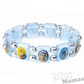 Mix Mamas Armbandje Blauw Herdenkingsarmbandje