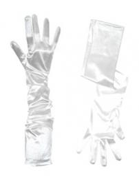 Prinsessen Handschoenen wit satijn