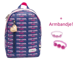 Zebra Rugzak Girls Stay Cool (m) + gratis armbandje