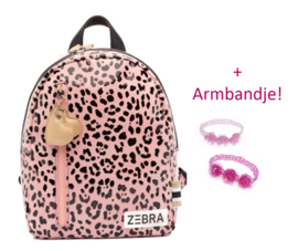 Zebra Rugzak Panter Pink (s) + gratis kadootje