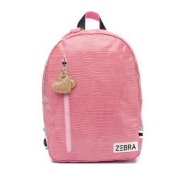 Zebra Rugzak Croco Pink (m) + gratis kadootje