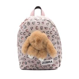 Zebra Rugzak Honey Bunny Leo Pink (s) + gratis kadootje