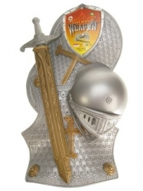Ridderset Verkleedset Pak Zilver