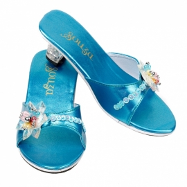 Souza prinsessen slippers Blue Metalic