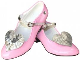 Prinsessen Schoenen roze Glitter Hart