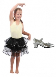 Balletrokje Tutu   zwart zilver PAKKET