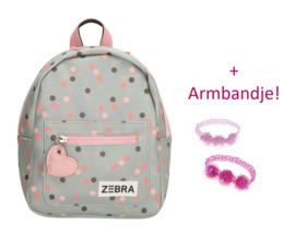 Zebra Rugzak Honey Bunny blue dots (s) + gratis kadootje
