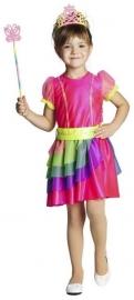 Regenboog jurkje Prinses