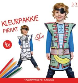 Kleurpakkie Piraat verkleedset