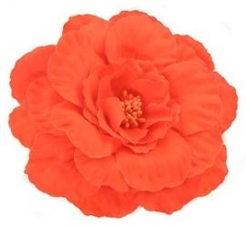 Haarbloem Speld Oranje