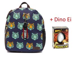 Zebra Rugzak Tijger - Tiger + gratis Dino Ei