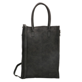 Zebra Tas Schoudertas Natural Bag Rosa XL - black suede