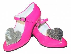 Verkleedschoenen Roze Glitter Hart