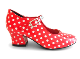 Prinsessen Schoenen Rood Stippen + gratis armband