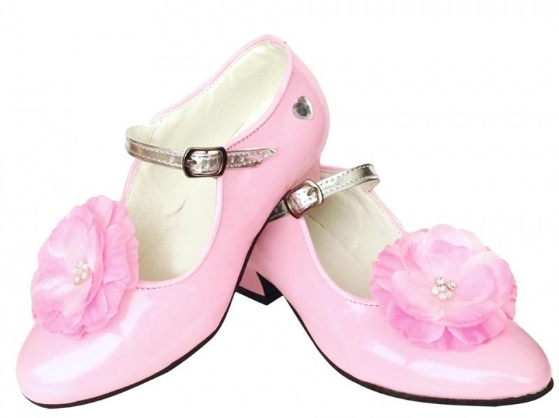 Prinsessen Schoenen Lichtroze Bloem + gratis kadootje