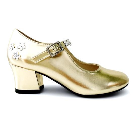 Prinsessen Schoenen Goud Luxe + gratis armbandje