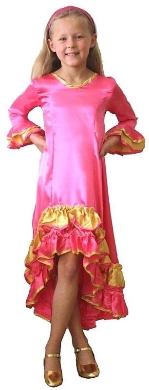 Prinsessenjurk Roze Shiny Goud