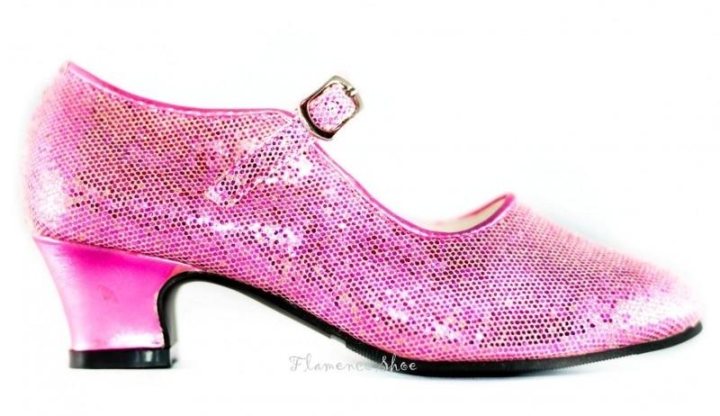 Spaanse Schoenen Pink Glitter - koopjeshoek - mt 27