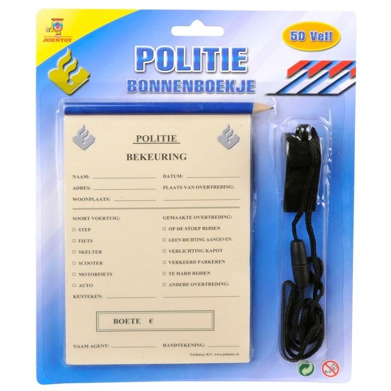 Politie Bonnenboekje en fluitje