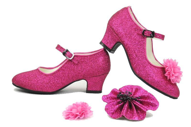 K3 Schoenen Roze Glitter + roze armband