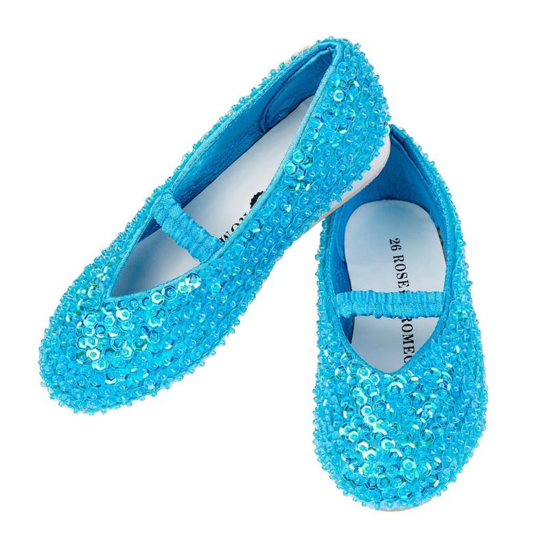 Prinsessen Schoentjes Blauw pailletten