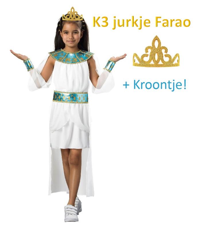 K3 jurkje Farao + gratis kroontje goud