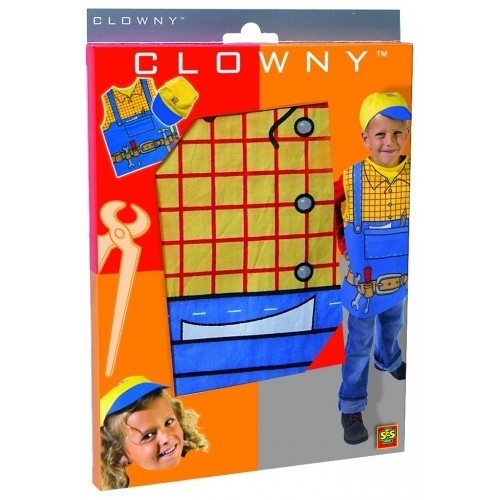 Verkleedset Bouwer - Clowny