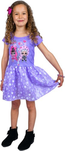 LOL verkleedjurk Surprise jurk paars