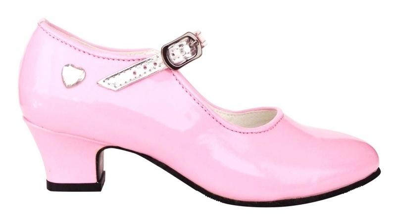 Verkleed Schoenen Roze Hart + gratis Kroontje